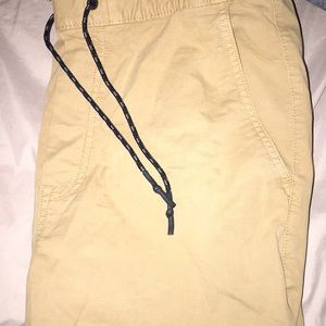 Tan joggers. Never worn.